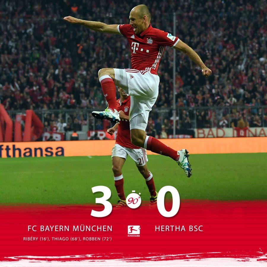 El Bayern Golea Al Hertha Y Ya Es El único Equipo Invicto De La Bundesliga