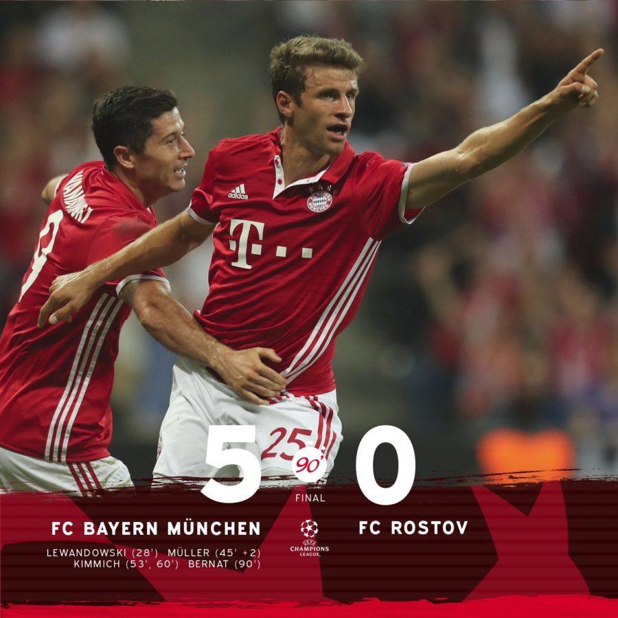 Il Bayern Non Fa Concessioni E Infligge Una Goleada Al Rostov Nel Suo Esordio In Champions