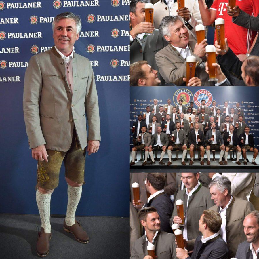 Ancelotti Gesellt Sich Zu Den Bayerischen Traditionen: Bier Und Lederhosn
