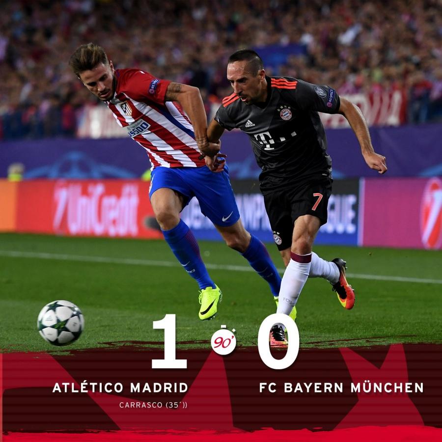 El Atlético Frena La Racha De Un Bayern Desacertado