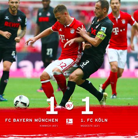 El Bayern Cede Sus Dos Primeros Puntos De La Temporada Ante El Colonia En La Bundesliga