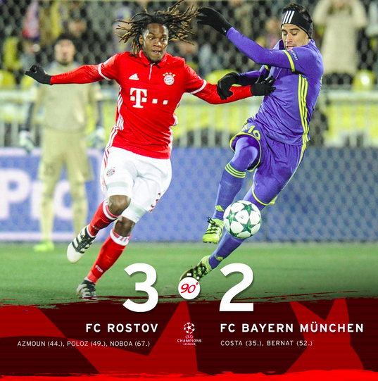 Bayern Drops Three Important Points In Rostov