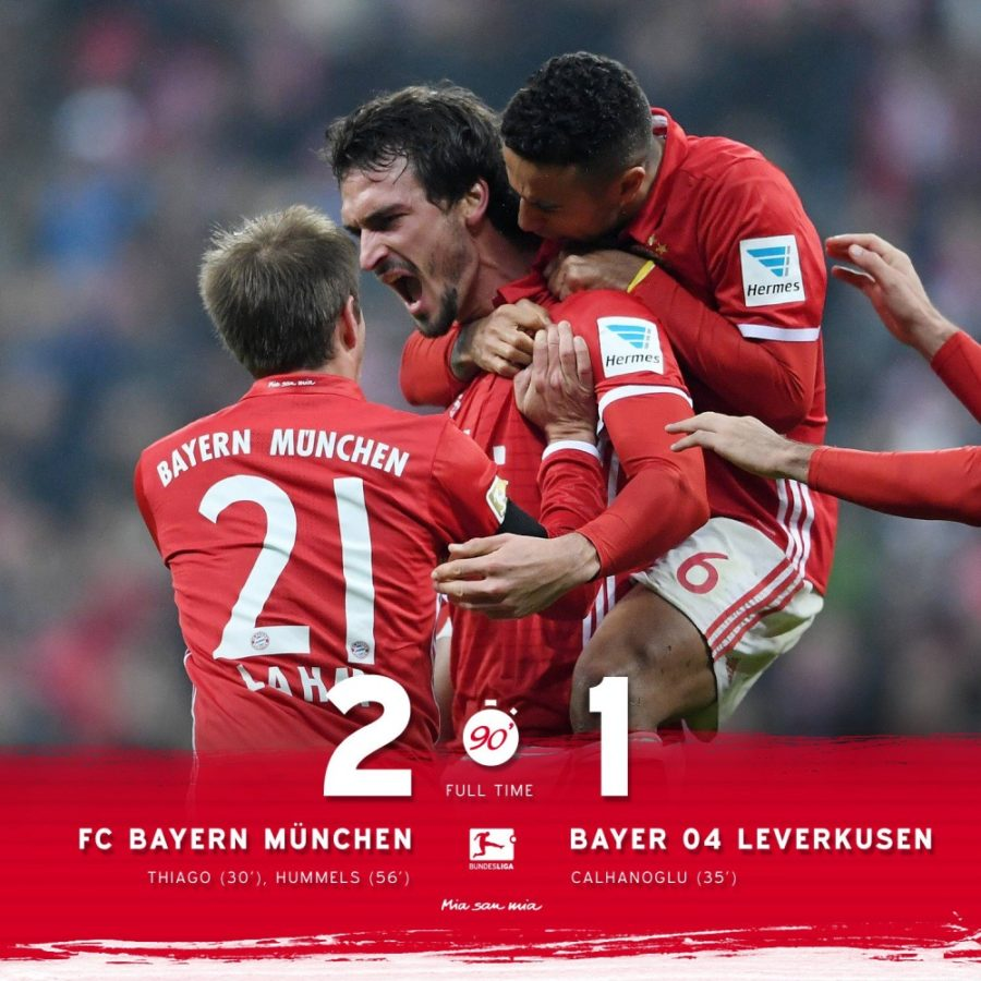 Thiago And Hummels Put Things In Place In A Hard-fought Bayern Win
