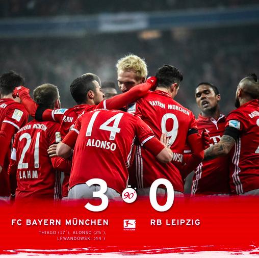 Goleada Del Bayern Di Ancelotti Contro Il Lipsia Per Chiudere Il 2016 Come Leader Indiscusso