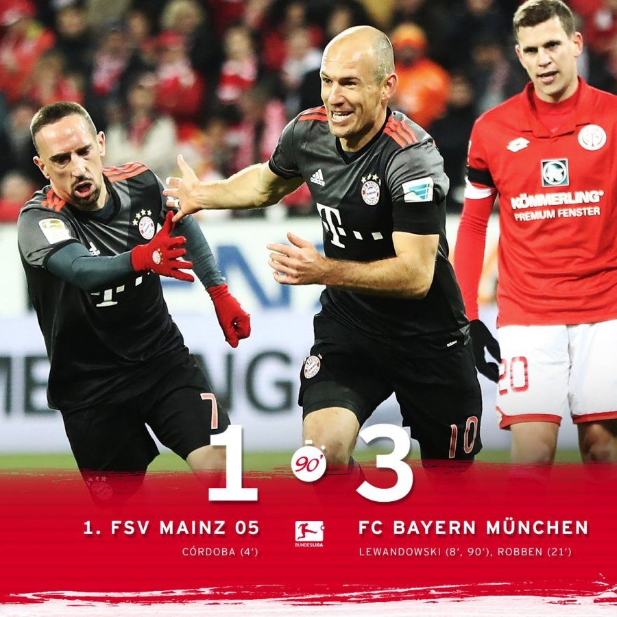 Bayern Leader After Beating Mainz At The Bundesliga