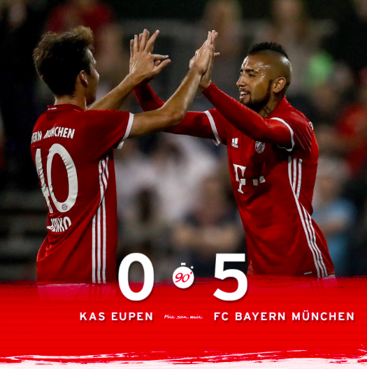 Bayern Ends A Great Week Of Work With A Great Win Against KAS Eupen