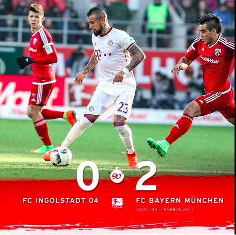 Golpe De Autoridad Del Bayern: Vence Al Ingolstadt Y Deja Ya Al Leipzig A Siete Puntos