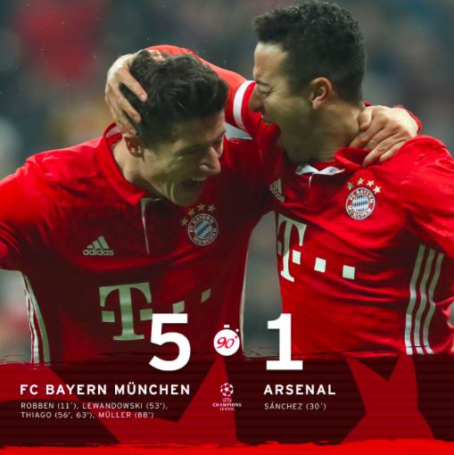 Un Bayern Imperial Golea Al Arsenal Y Se Queda A Un Paso De Los Cuartos De Final