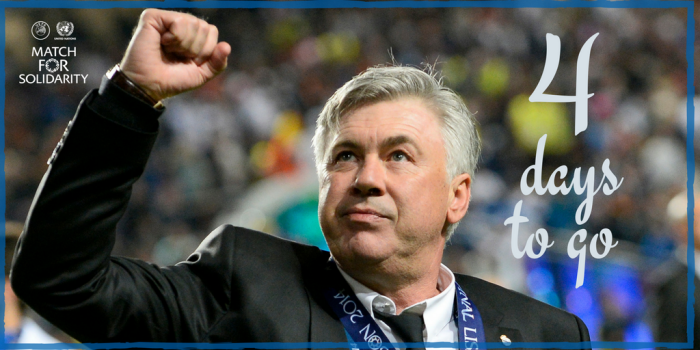 Ancelotti Will Be In Geneva For The Match For Solidarity Organized By UEFA And The UN