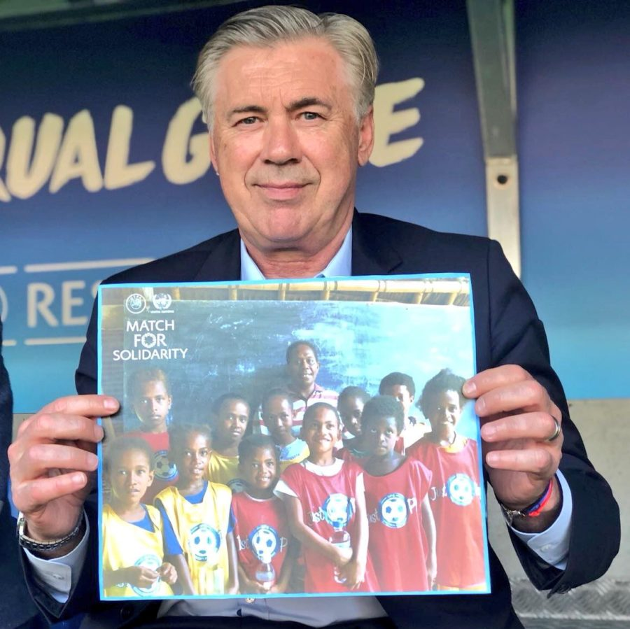 Ancelotti Participates In UEFA And UN's Football Party At Geneva