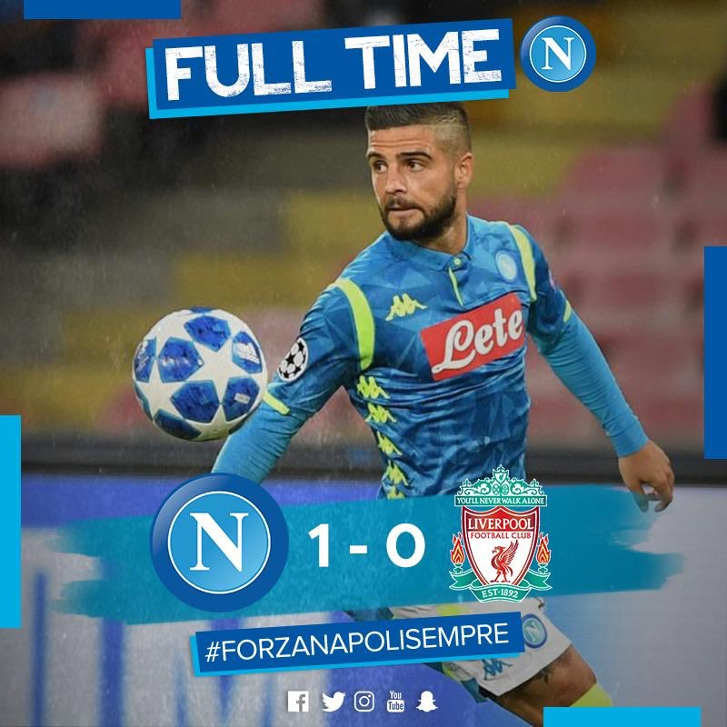 Napoli Beats Liverpool And Sits In The First Place Of Group C