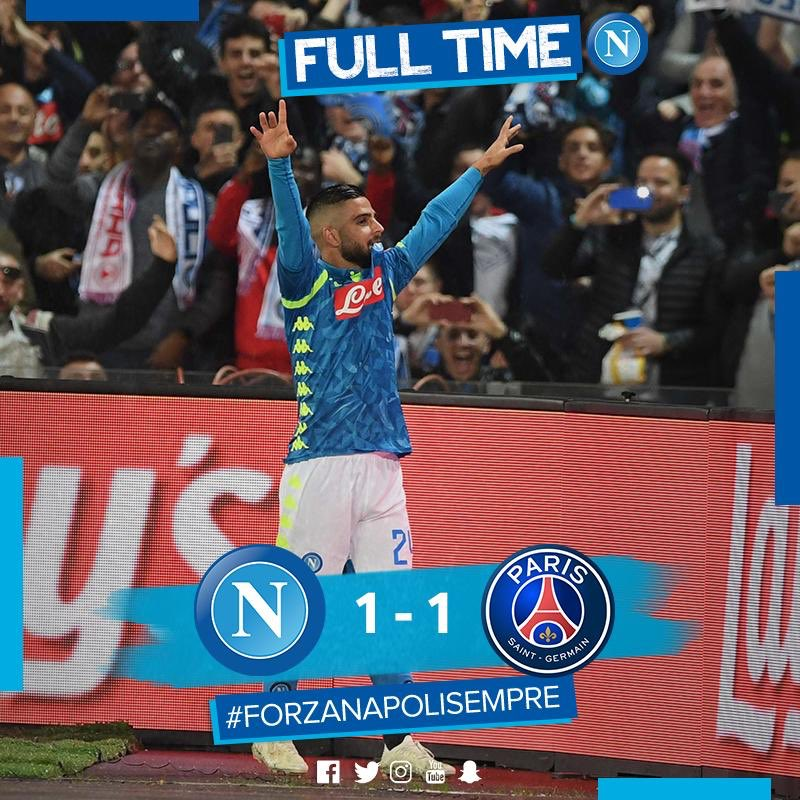 Napoli Drew Against PSG And Their Chances Remain Intact