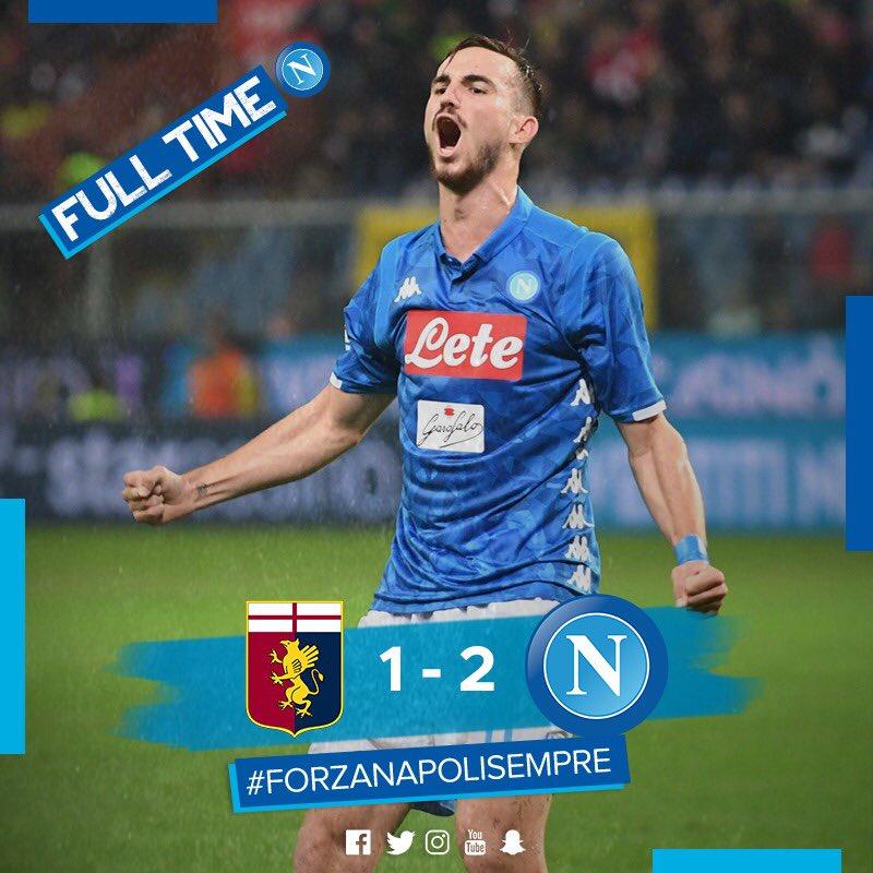 Napoli Beats Genoa And Keeps Pushing Juventus