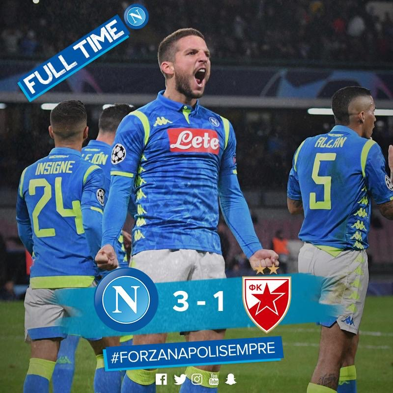 Napoli Sweeps Aside Red Star And Will Fight For Qualifying Against Liverpool
