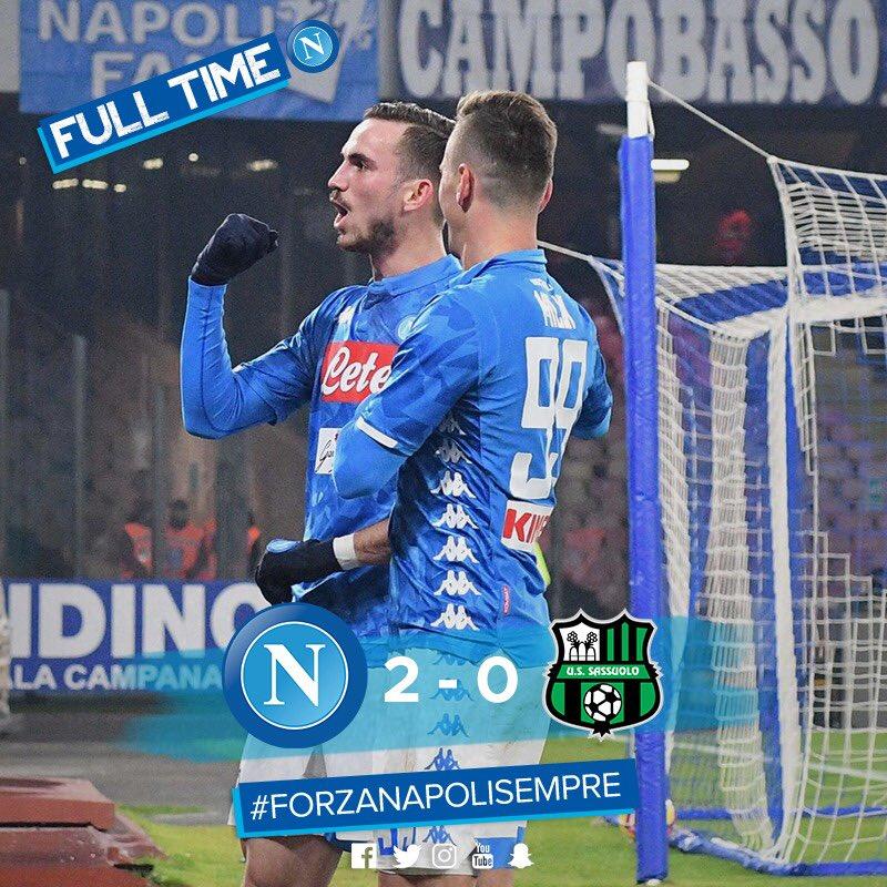 El Napoli Venció Al Sassuolo Y Se Medirá En Cuartos De Final De Copa Al AC Milan