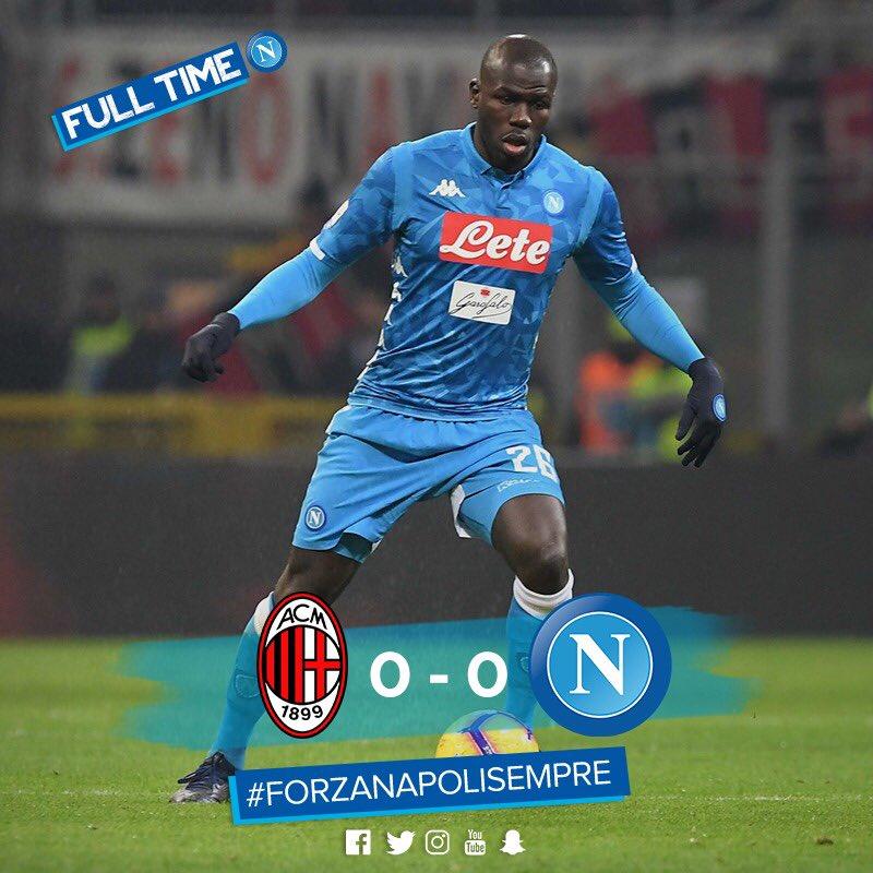 Il Napoli Pareggia Nella Serata Del Ritorno Di Ancelotti A Milano