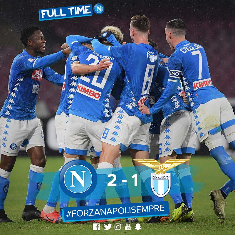 Napoli Gets A Hard-fought Victory Against Lazio