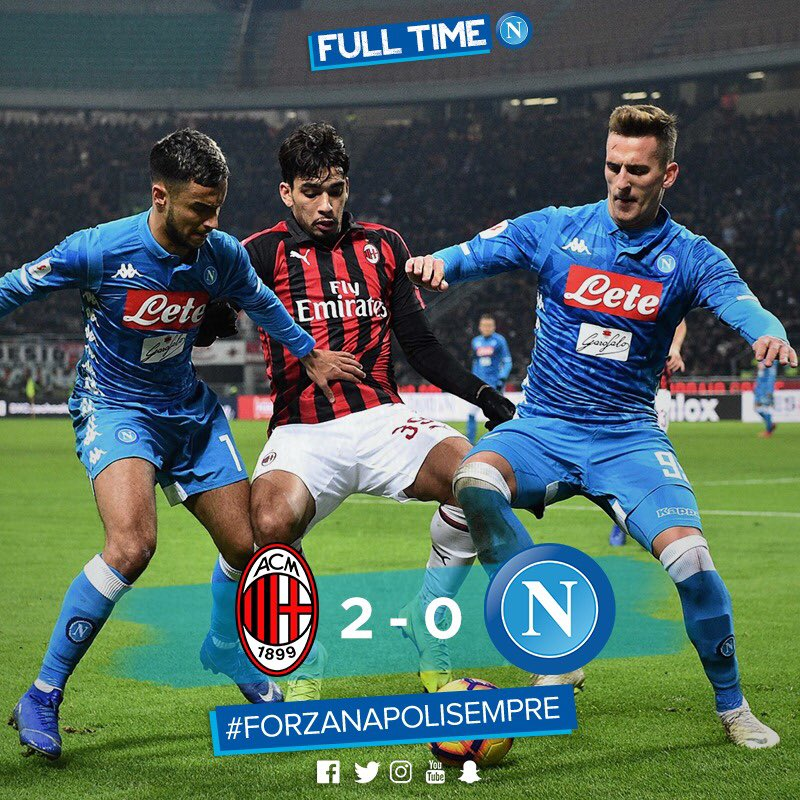 Napoli Eliminated After Losing To Milan