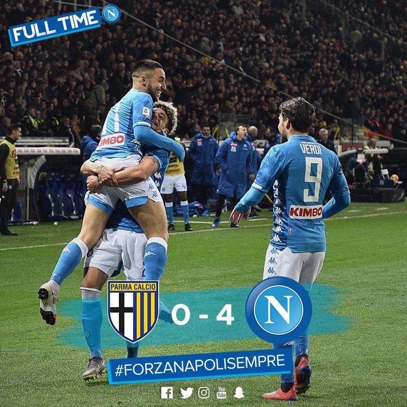 El Napoli Golea Al Parma Antes De Recibir A La Juventus
