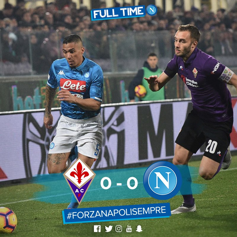 Napoli Drew Against Fiorentina In A Game In Which It Deserved Better Luck