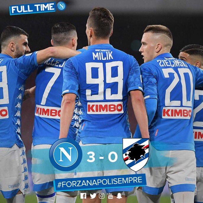 Napoli Returns To The Winning Path Against Sampdoria
