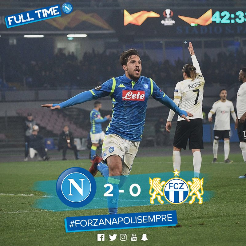 Napoli Beat FC Zürich And Gets To The Last 16 Stage Of The Europa League