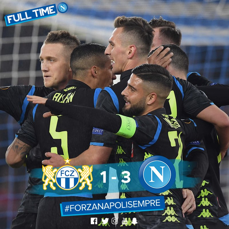 Napoli Thrashes FC Zurich And Is Closer To Qualification